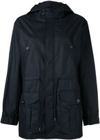 A.P.C. patch pockets hooded raincoat - women - Cotton/Polyurethane - 36