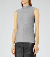 Reiss Aries Metallic High-Neck Top