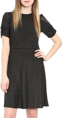 MICHAEL Michael Kors Metallic Dot Short-Sleeve Dress