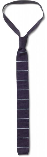 Toms Pin stripes knit navy tie