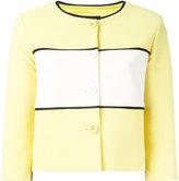 Moschino cropped panel jacket - women - Cotton/Polyamide/Polyester/Acetate - 44
