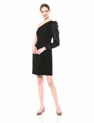 Eliza J Women's One Shoulder Dress with Long Sleeve