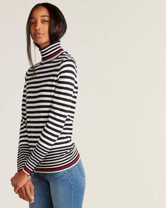 Tommy Hilfiger Stella Striped Long Sleeve Turtleneck Sweater
