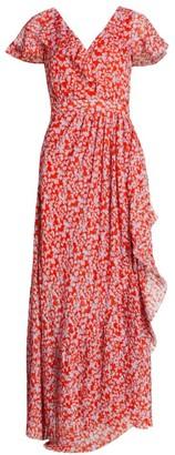 Tanya Taylor Fabiana Floral Wrap Maxi Dress
