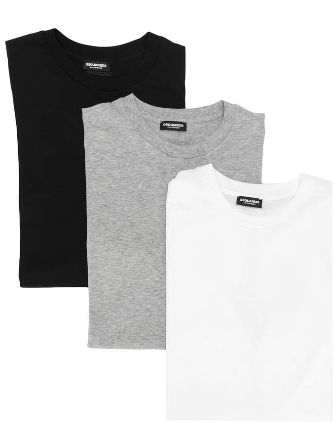 DSQUARED2 pack of 3 basic T-shirts
