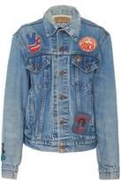 MadeWorn grateful dead embroidered rose denim jacket
