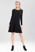 Josie Natori Textured Knit Jacquard Dress