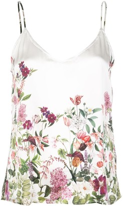 Madison.Maison Lena floral-print silk top