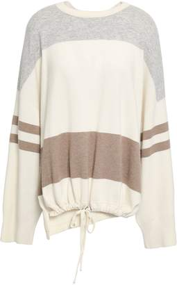Brunello Cucinelli Striped Wool, Cashmere And Silk-blend Sweater