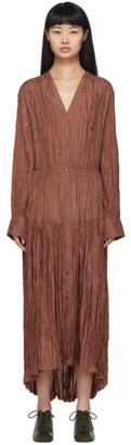Joseph Brown Silk Habotai Falco Dress