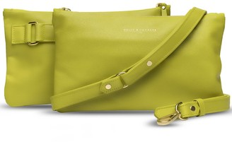 Holly & Tanager Companion Mini Leather Crossbody Clutch In Yellow