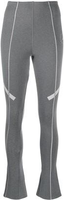 adidas by Stella McCartney Side-Stripe Ankle-Zip Leggings