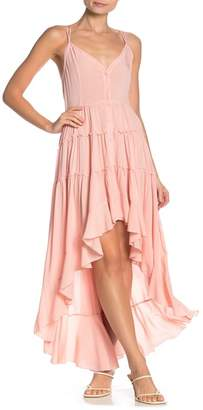On The Road Willa Tiered Ruffle High/Low Dress