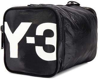 Yohji Yamamoto Y 3 Y-3 Mini Gymbag in Black & Core White | FWRD