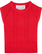 Victor Glemaud - Cropped Open-back Cotton And Cashmere-blend Top - Red