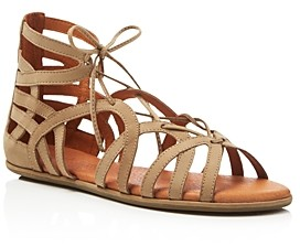Gentle Souls by Kenneth Cole Gentle Souls Break My Heart Snake Embossed Lace Up Sandals