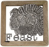 Mud Pie Harvest Feast Turkey Metal & Mango Wood Trivet