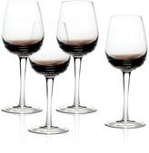 Mikasa Swirl Smoke Set of 4 White Wine Glasses