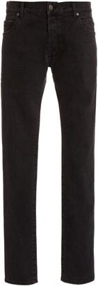 Balmain Six-Pocket Monogram Embossed Slim Fit Jeans