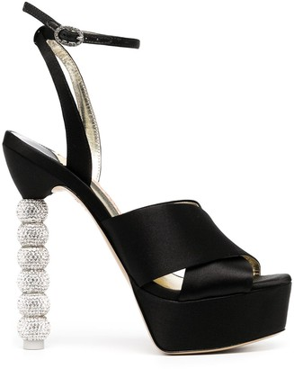 Sophia Webster Natalia crystal-embellished platform sandals