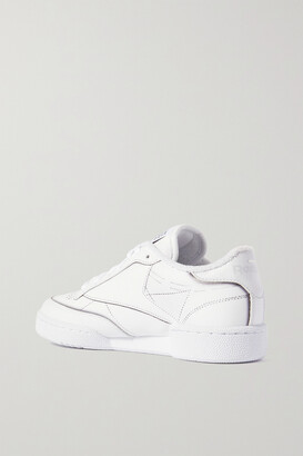 Reebok + Maison Margiela Project 0 Club C Printed Leather Sneakers - White