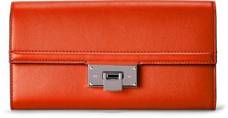 Ralph Lauren Calfskin Hinge-Lock Wallet