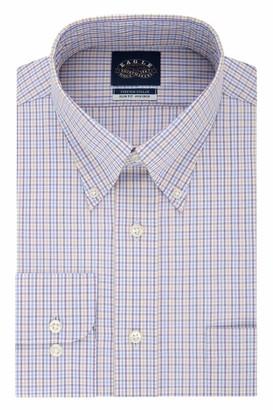 Eagle Men's Dress Shirt Slim Fit Non Iron Stretch Collar Check
