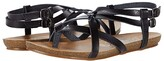 Blowfish Gineh (Black Exotic Die Cut) Women's Sandals