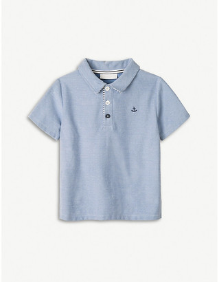 The Little White Company Anchor-embroidered cotton-chambray polo top 1-6 years