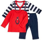 Petit Lem Baby Boys Holiday Three-Piece Shirt, Vest and Pants Set