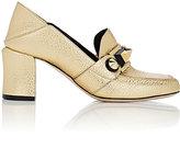 Fendi Women's Stud-Embellished Loafer Pumps-GOLD