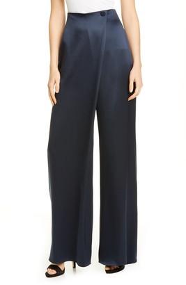 Cushnie High Waist Wide Leg Silk Pants