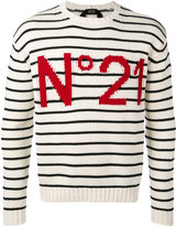 No.21 striped sweatshirt - men - Cotton - L
