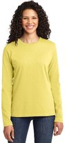 Port & Company Women's Long Sleeve 54 oz 100% Cotton T Shirt M