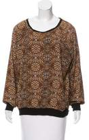 Adrienne Vittadini Printed Long Sleeve Top