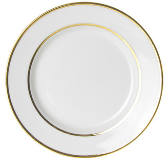 Ten Strawberry Street Double Gold Rimmed Set Of Six 7.75In Salad Plates
