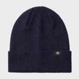 Paul Smith Women's Navy Lambswool Beanie Hat