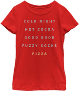 Fifth Sun Red 'Pizza' Tee - Girls