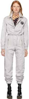 Marine Serre Silver Moire Jumpsuit