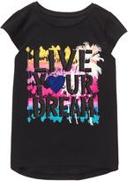 Gymboree Black 'Live Your Dream' Graphic Cap-Sleeve Tee - Girls