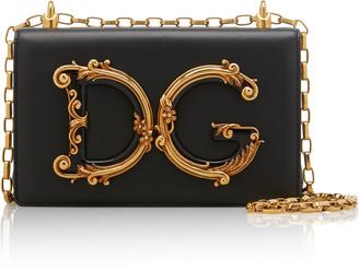 Dolce & Gabbana Logo-Embellished Leather Shoulder Bag