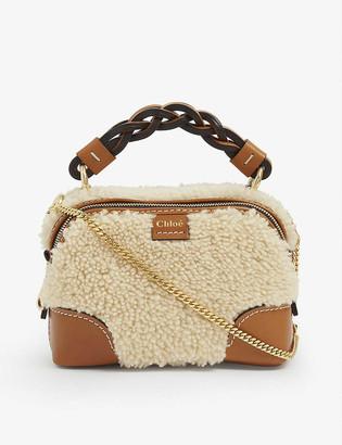 Chloé Daria mini shearling cross-body bag