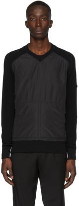 Ermenegildo Zegna Black Bi-Fabric Sweater