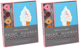 Knock Knock Two Sweet Treats Paint-by-Number Postcards Kits