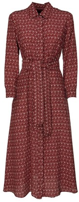 Max Mara WEEKEND Patterned dress in silk crepe de Chine