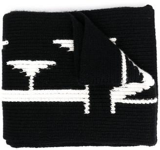 Antonella Rizza Oversized-Logo Knit Scarf