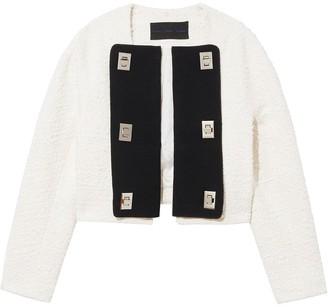 Proenza Schouler Contrast Panels Tweed Jacket
