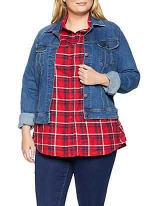 Lee Women's Slim Rider Plus Size Denim Jacket,XX-Large