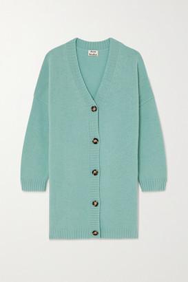Acne Studios Oversized Wool Cardigan - Light blue