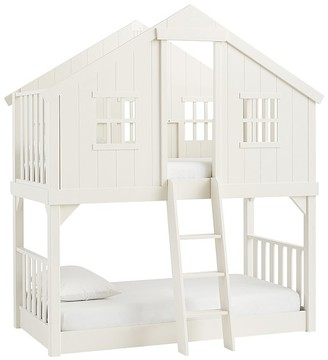 Pottery Barn Kids Tree House Twin-Over-Twin Bunk Bed